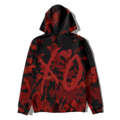 The Weeknd: AFTER HOURS BLEED DYE PULLOVER HOOD