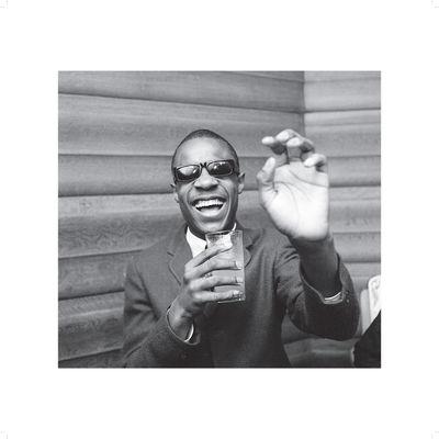 Motown: Stevie Wonder Black and White 50x50cm Photo Print