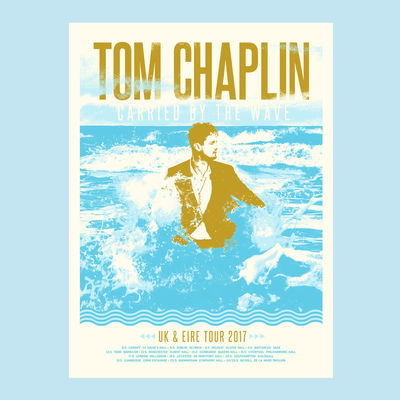 Tom Chaplin: 2017 UK & EIRE Tour Screenprint