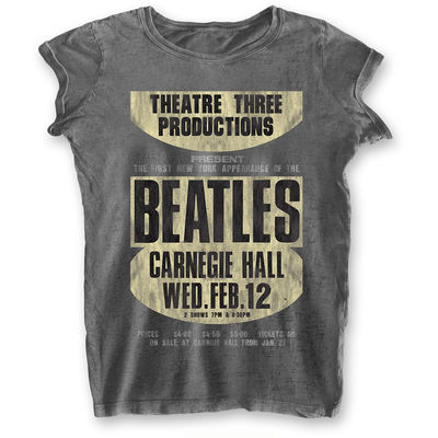 The Beatles: Carnegie Hall Womens Burnout T-Shirt