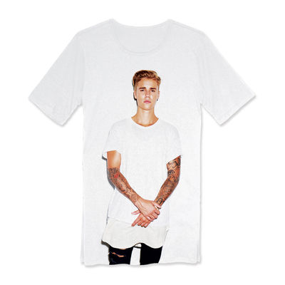 Justin Bieber: Justin Bieber Standing Photo Long T-Shirt