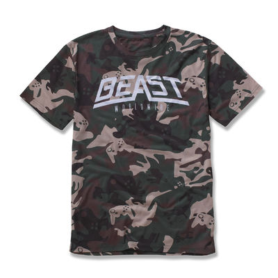 Beast Worldwide: Camo Controller T-shirt (Green)