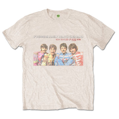 The Beatles: The Beatles LP Here Now Mens Sand T-shirt