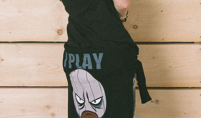 I Play Dirty: Womens Black Hoodie