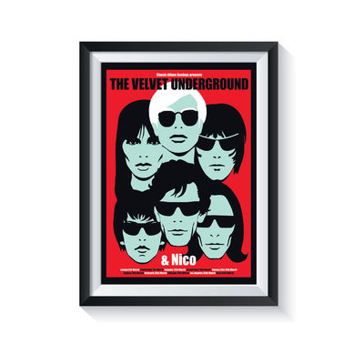Carl Glover: The Velvet Underground & Nico (Red Variant): Classic Album Sundays Screen Print