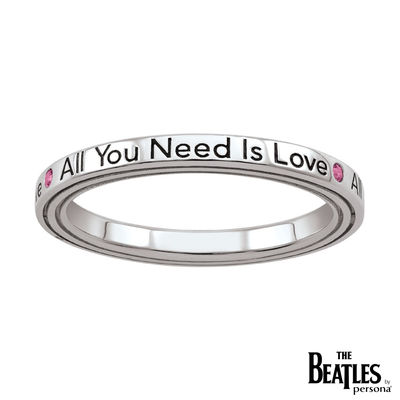 The Beatles: 925 Beatles All You Need Is Love Ring