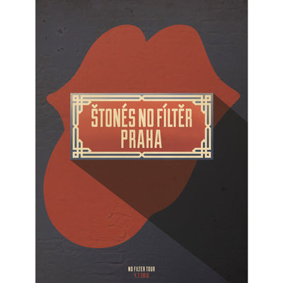 The Rolling Stones: Prague Lithograph