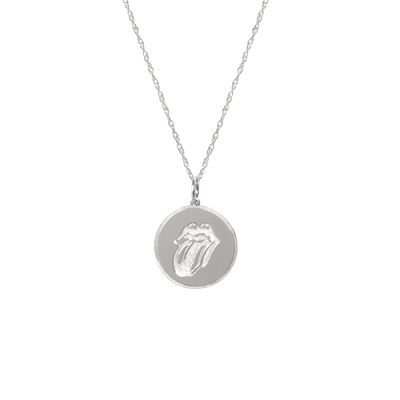 The Rolling Stones: Stones Silver Tongue Pendant Necklace