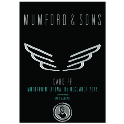 Mumford & Sons : Cardiff, UK, 2015 Show Screen Print
