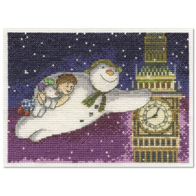 The Snowman: The Snowman and The Snowdog Cross Stitch Kit - Flying Past Big Ben