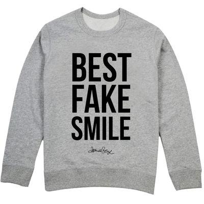 james bay: James Bay Best Fake Smile Grey Sweatshirt