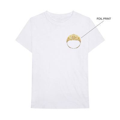 Various Artists: DECCA SUPREME range white t-shirt with gold foil logo