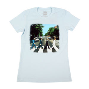 The Beatles: Abbey Road - Womens Sky Blue