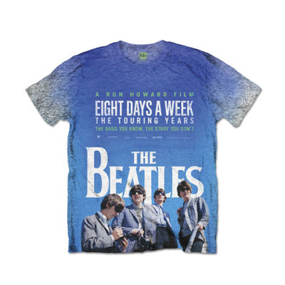 The Beatles: 8 Days A Week Movie Poster Men's Grey Marl Sublimation T-Shirt
