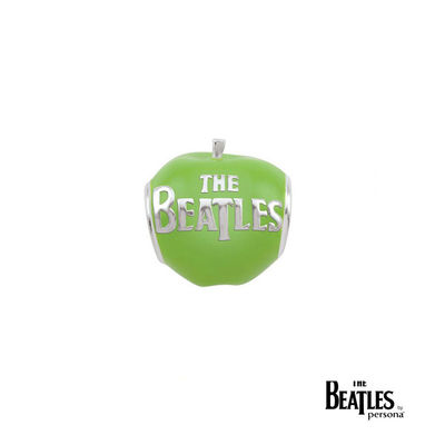 The Beatles: 925 The Beatles Green Apple Bead