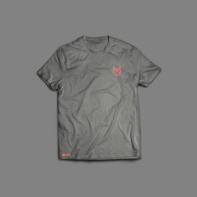 M.O.: Orange Logo Grey T-Shirt