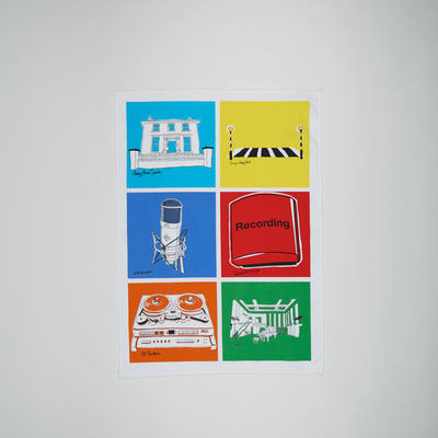 Abbey Road Studios: Abbey Road Multicolour Tea Towel