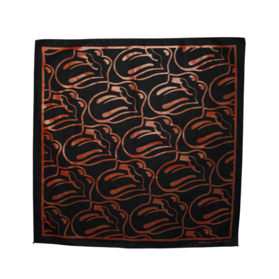 The Rolling Stones: Black / Red Tongue Bandana