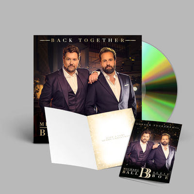 Michael Ball & Alfie Boe: Back Together Signed CD & Christmas Card bundle