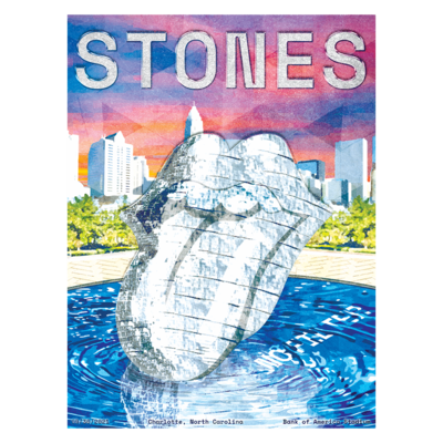 The Rolling Stones: Charlotte No Filter 2021 Tour Lithograph