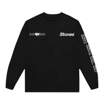 The Rolling Stones: No Filter USA 2021 Black Long Sleeve Shirt
