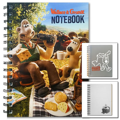 Wallace & Gromit: Wallace & Gromit Notebook With Super Stencil