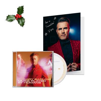 Gary Barlow: Signed Christmas Card & CD Bundle