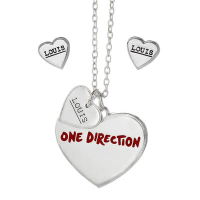 One Direction: One Direction Louis Heart Necklace and Earrings Set