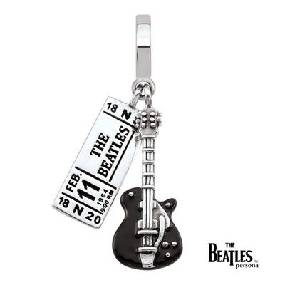 The Beatles: 925 The Beatles Ticket And Guitar Dangle