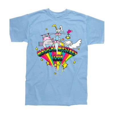 The Beatles: Magical Mystery Tour Childrens T-Shirt Sky Blue