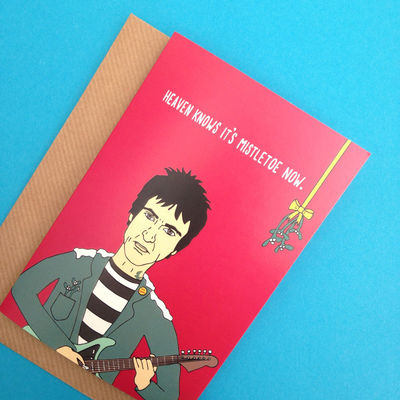 Johnny Marr: Heaven Knows I'm Misteletoe Now Xmas Card