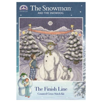 The Snowman: The Snowman and The Snowdog Cross Stitch Kit - The Finishing Line