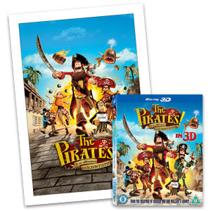 Pirates: Store Exclusive Pirates Blu-ray 3D & Exclusive A3 Print Ready To Frame