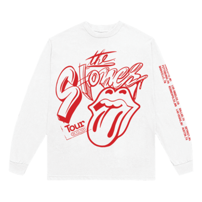 The Rolling Stones: No Filter USA 2021 White Long Sleeve Shirt