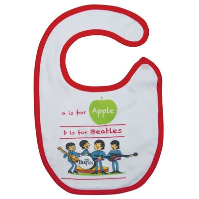 The Beatles: A Is For Apple Bib White/Red Trim