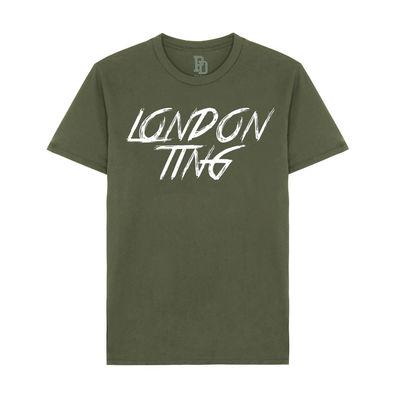I Play Dirty: London Ting Military Green T-shirt