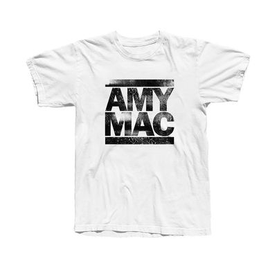 Amy Macdonald: White Distressed T-shirt - L