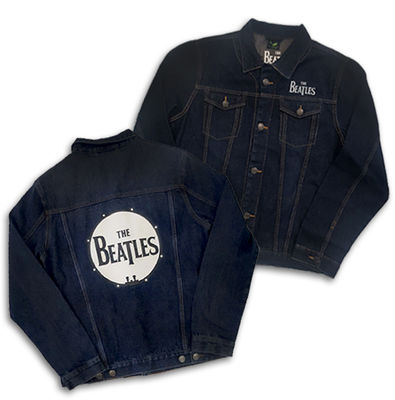 The Beatles: Unisex Denim Jacket Drum Logo