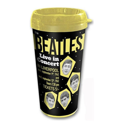 The Beatles: The Beatles 1962 'Live In Concert In Liverpool' Travel Mug