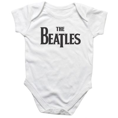 The Beatles: Drop T Logo Baby Body Suit White