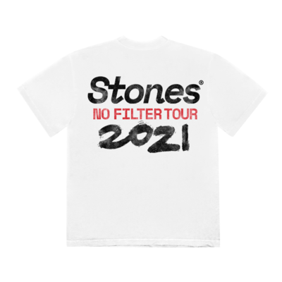 The Rolling Stones: No Filter 2021 White Tour T-Shirt
