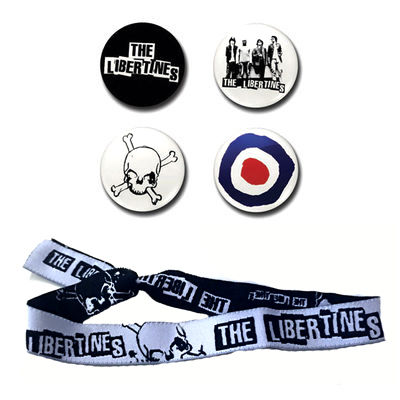 The Libertines: The Libertines Collectors Badge And Wristband Set