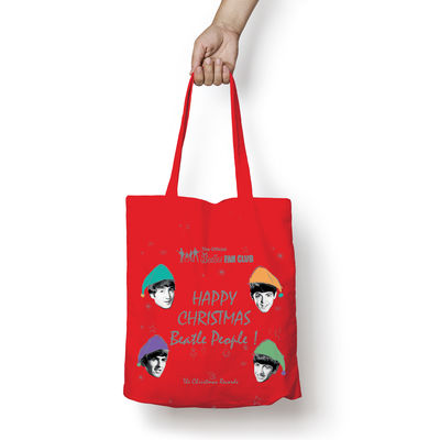 The Beatles: Happy Christmas Beatles People Tote Bag
