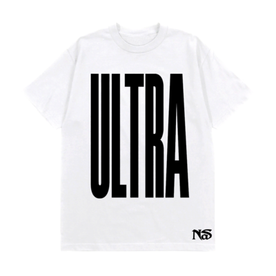 Nas: ULTRA BLACK WHITE TEE