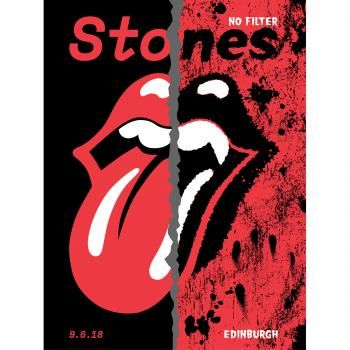 The Rolling Stones: Edinburgh Lithograph