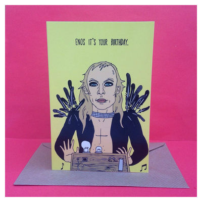 Brian Eno: Brian Eno Birthday Greetings Card