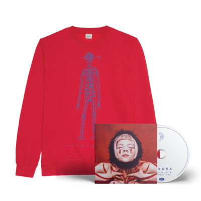 Aurora: Infections of A Different Kind SIGNED CD & Sweatshirt Bundle (RED)