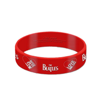 The Beatles: Love Me Do Red Silicone Wristband