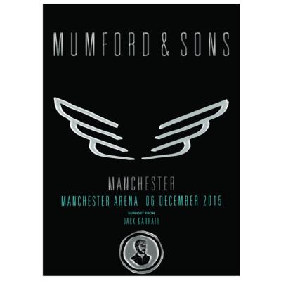 Mumford & Sons : Manchester, UK, 2015 Show Screen Print