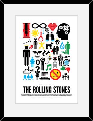 The Rolling Stones: Pictogram Rock Print by Viktor Hertz
